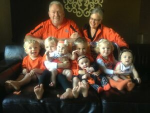 Kelley, Charles and Nancy with grandkids