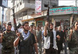 Young men in Gaza