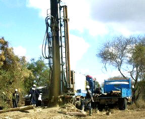 A drilling operation under way