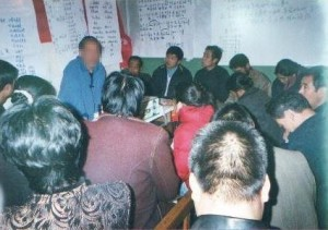 House church meeting in China