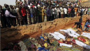 Mass grave near Jos, filled with Christians killed in early March