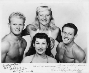 Bob Yerkes (left) with the Flying Alexanders
