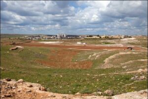 Earthwork on the site at Midyat, Turkey, where thousands of Syrian Christians may live. The Mor Gabriel monastery is in the background, at right. Photo: Saima Altunkaya for World Watch Monitor
