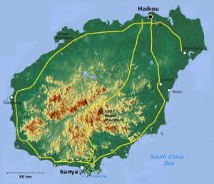 Hainan Island (Province) off southern coast of China