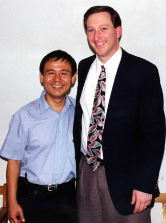 Todd Nettleton meets with underground church Pastor Li De-Xian in China in 1999. Photo courtesy of The Voice of the Martyrs / www.Persecution.com.