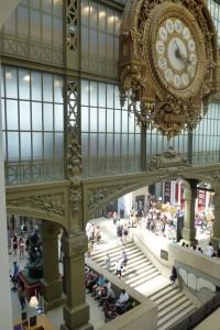 Interior of Musee d'Orsay in Paris