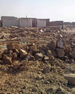 Sudanese authorities left a Presbyterian Church of Sudan building in ruins in January. (Morning Star News photo)