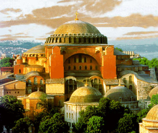 Hagia Sophia in Isanbul, Turkey, completed by Justinian in 537