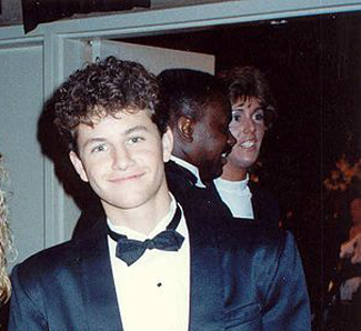 Kirk Cameron at Emmy's, 1989