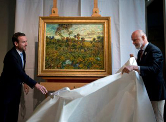 Unveiling of 'Sunset at Montmajour'