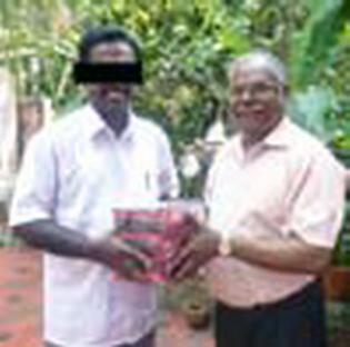 Maheen (left) standing next to Paul Ciniraj