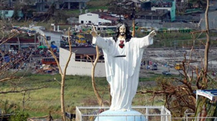 Statue of Jesus survives