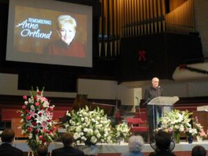 Ray Ortlund Jr. speaking at mother's service