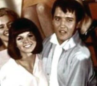 Sandy with Elvis