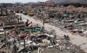 Devastation from typhoon