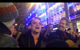 Bono jubilant