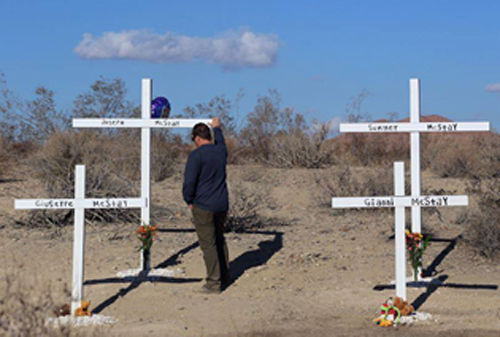 MIke visits site in Victorville where bodies were discovered