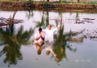 Subaidath at her baptism