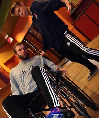 Joel in wheelchair