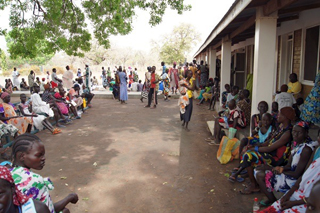 Akot outpatient waiting area