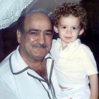 Pete Capone holding his grand nephew, Joey