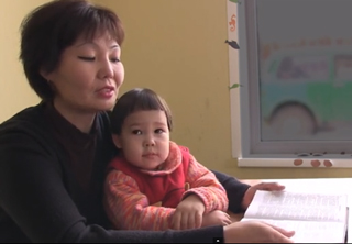 Yulia with her child