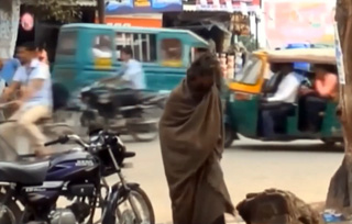 John wandering in the streets of Lucknow