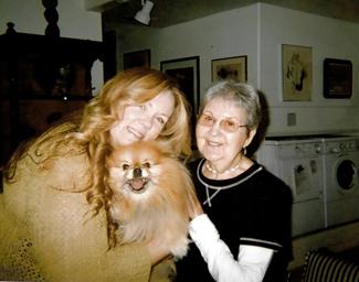 Little Bear held by Sharon Lee (left) and Nikkie's mom, Jesse Blumenfeld