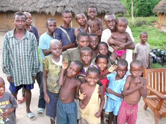 Yansi men and boys