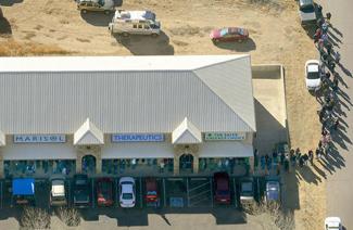 Buyers line up in Pueblo, Colorado to buy pot