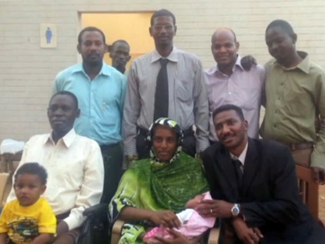 Ibrahim and family after release