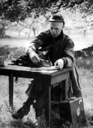 Ernie Pyle in Normandy