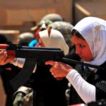 Female Iraqi police recruits take aim at targets at a range near Mosul, Iraq in 2010. What will happen to them now?