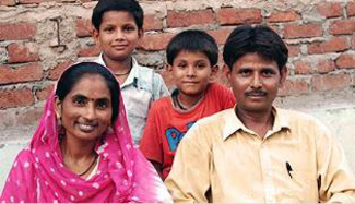 Shanti with her family