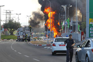 Bombings from Gaza, destroying property and injuring people this week in Israel