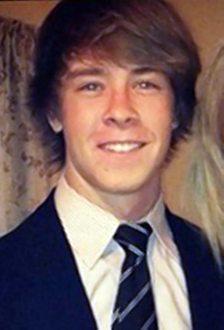 Brown's victim, 19-year-old Brendan Tevlin