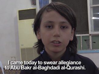 Boy pledges allegiance to al-Baghdadi and the jihad (Vice News)