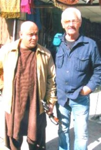 Norm Nelson with Afghan bodyguard