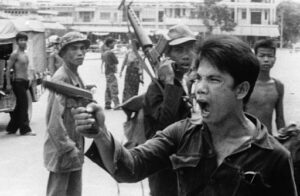 Khmer Rouge takes over the city