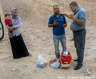 Praying with refugees