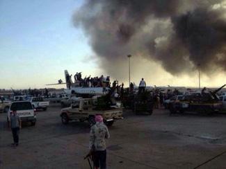 Islamist militias celebrate takeover of Libya International Airport