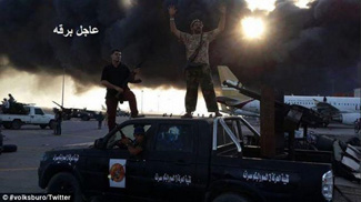 Libya Dawn two on top of truck