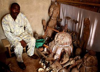 Fetish priest in Togo