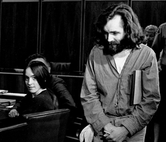Manson in court with Susan Atkins