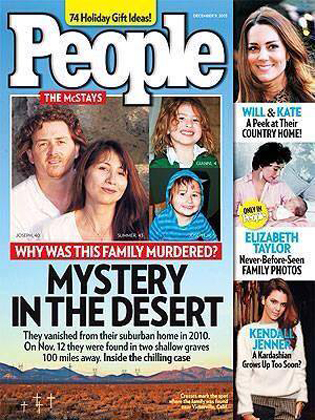 People Magazine cover featuring McStays