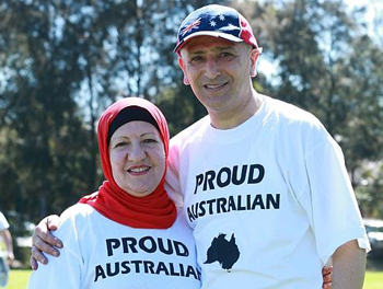 Jamal Rifi and wife Lana (Daily Telegraph/Britta Campion)