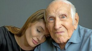 Jolie with Louis Zamperini