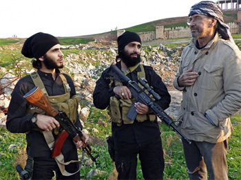 Jurgen Todehofer with IS fighters