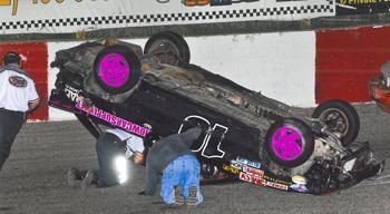 Rylee trapped inside car after crash