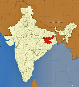 Red indicates Jharkhand state in India